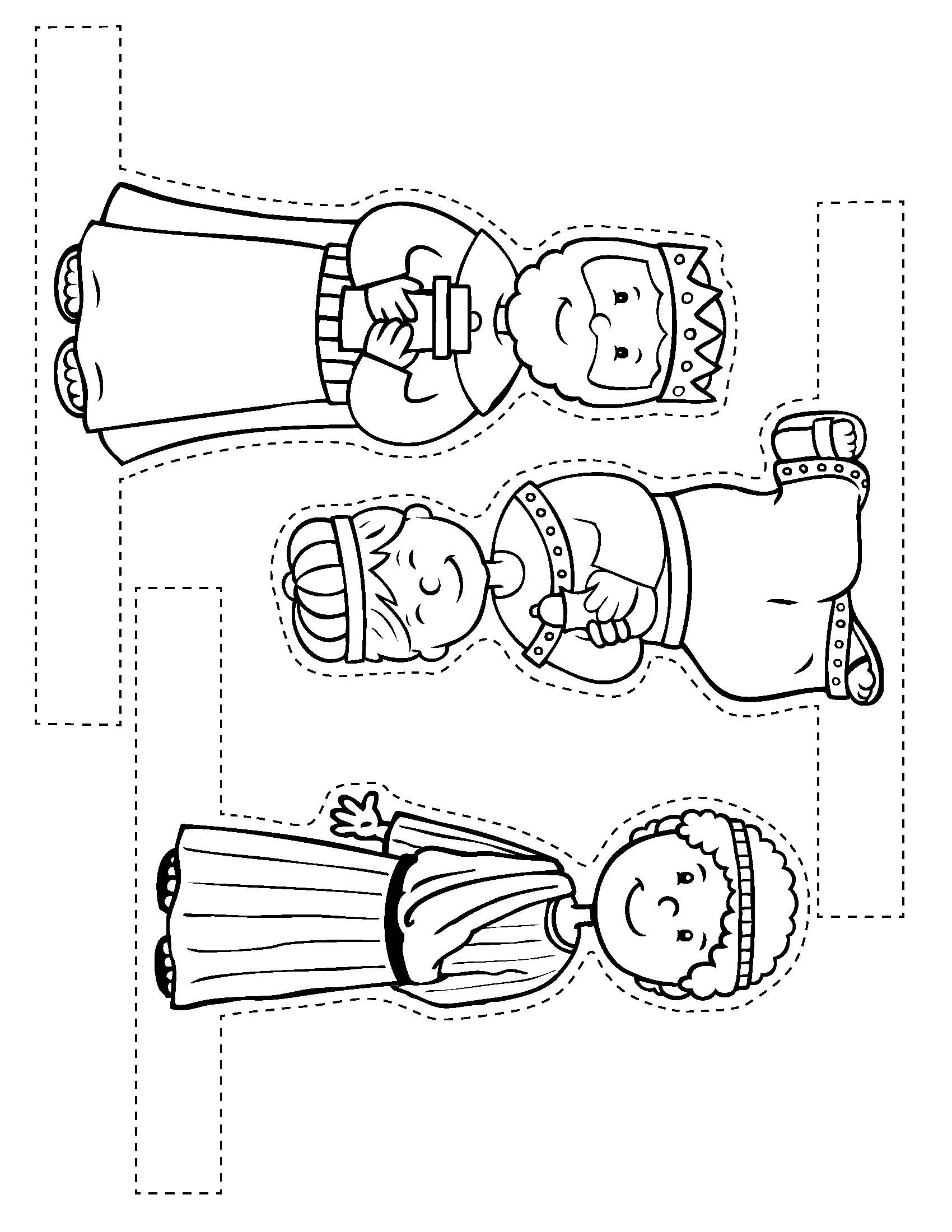 It is a picture of Enterprising Nativity Scene Printable